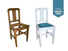 Pequena cadeira. Reciclagem para Cliente.