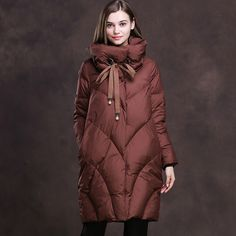 c1f7e0570d4f Women Loose Long Down Jacket  Outfit  Lightweight  Patagonia  Display  Long
