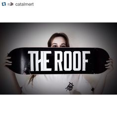 The Roof Team Logo Deck instagram.com/theroofskateboards/