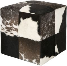 Surya Cowhide Cube Chocolate U0026 Ivory Pouf Can Add A Marrakesh Fashion  Statement To Any Room