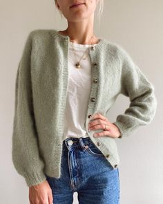Spring Outfit Women, Fall Outfits, Cute Outfits, Sport Outfits, Strick Cardigan, Looks Street Style, Work Tops, Stockinette, Capsule Wardrobe