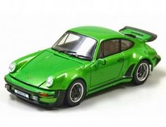The Porsche 911 Turbo 1975 Green is a diecast model car in 1/43rd scale from the Kyosho diecast model car collection.