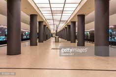 Stock Photo : Germany, Berlin, modern architecture of subway station Brandenburger Tor