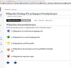 #Wikipedia's #femgrundprinciper för #pedagoger https://sv.wikipedia.org/wiki/Wikipedia:Tr%C3%A4ning/F%C3%B6r_pedagoger/Grundprinciper . Se även en lärares blogg (som arbetar mycket med #digiskol ): http://gunnelthydell.se/vi-publicerar/ .