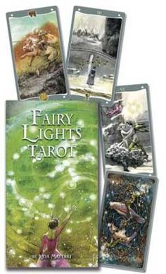 The poetic art of Lucia Mattioli sings in this unique and imaginative tarot. Each card is part of a bigger picture that is complete when paired with another card. An ever-present fairy light helps to