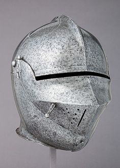 Armet Date: ca. 1490 Culture: Italian Medium: Steel Dimensions: H. 10 5/8 in. (27 cm); W. 8 1/2 in. (21.6 cm); D. 12 7/16 in. (31.6 cm); Wt. 7 lb. 1 oz. (3217 g)