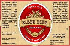 Cerveja Eigen Bier Red Ale, estilo Irish Red Ale, produzida por  Cervejaria Caseira, Brasil. 5.6% ABV de álcool.