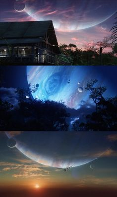 Stunning scenery: > Avatar + Pandora's sky