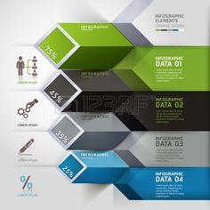 抽象的な 3 d のインフォ グラフィック オプション。 写真素材