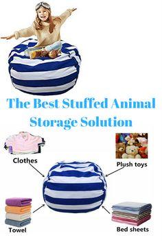 The best kid's room storage solution for stuffed animals.  #affiliate #kidsroomstorage #kidsroomorganization #stuffedanimalstorage