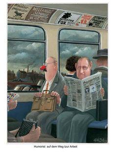 Gerhard Glück - Humorist auf dem Weg zur Arbeit