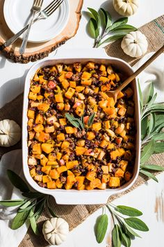I hope you'll enjoy this Paleo Butternut Sausage Apple Stuffing with your Thanksgiving menu! It's our new favorite, dairy free, gluten free, & Paleo Recipes Easy, Real Food Recipes, Gf Recipes, Pumpkin Recipes, Free Recipes, Paleo Stuffing, Everyday Paleo, Sugar Free Bacon, Sage Sausage