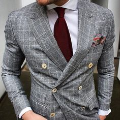 Men's Fashion | Menswear | Men's Outfit for the Office | Double Breasted Suit Jacket | Moda Masculina | Shop at designerclothingfans.com