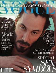 Cover of Vogue Hommes International with Keanu Reeves, March 2009 (ID:9871)| Magazines | The FMD #lovefmd