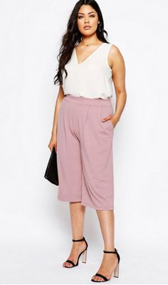 Plus size styling inspiration, wearing spring culottes