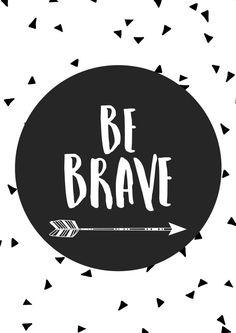 Flecha vivero impresión Ser valiente por TheKidsPrintStore en Etsy