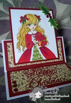 Designed by Sarah Bell for Lemon Shortbread using Christmas Poinsettia Girl