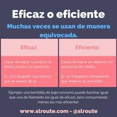 Eficaz y eficiente