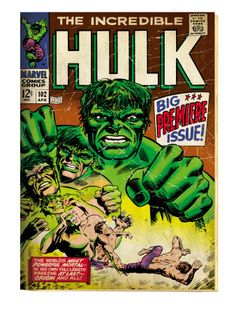 Perfect for every Marvel Comic Book lover. Wood Wall Décor Plaque features the Hulk Big Issue Comic Book cover. Hulk Marvel, Marvel Dc Comics, Spiderman, Hulk Comic, Marvel Comic Books, Comic Books Art, Comic Art, Hulk 3, Comic Superheroes