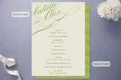Winter Flourish Wedding Programs