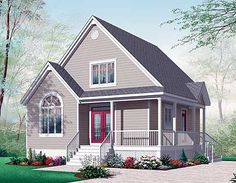 Country Charm with Wrap-Around Porch - 21861DR | Cottage, Country, Canadian, Metric, Narrow Lot, 1st Floor Master Suite, 2nd Floor Master Suite, CAD Available, Loft, PDF | Architectural Designs