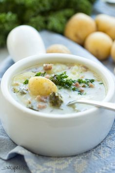 Zuppa Toscana made in the slow cooker or crock pot | TheRecipeRebel