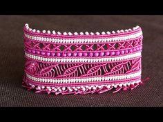 Wide Macramé Cuff Bracelet Tutorial | Macrame School - YouTube