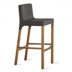 Knicker Stool - Upholstered Bar Stool with Back | Blu Dot