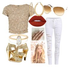 """💛💛💛"" by jayjayjello ❤ liked on Polyvore featuring Alice + Olivia, Tom Ford, MICHAEL Michael Kors, Lime Crime and Fragments"
