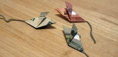 Geldmäuse - Mäuse aus Geldscheinen gefaltet