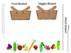 Fruit and Vegetable Worksheet Set PK,K,Special Education, Autism-This Fruit and Vegetable Worksheet set consists of 12 Worksheets. It is designed to help children identify fruits and vegetables