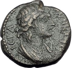 PHILADELPHIA in LYDIA 193AD Authentic Ancient Greek Coin SENATE & STAG i64962