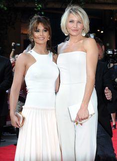 Cameron Diaz et Cheryl Cole : un look blanc ! Cheryl Cole, Cameron Diaz Hair, Medium Hair Cuts, Role Models, Beautiful Women, Actresses, Milkshake, Celebrities, Lady
