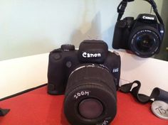 """Camera made from cake and fondant by Dream Design Cake Company Ltd  """"Can you tell the difference Ha Ha!"""" http://dreamdesigncakecompany.co.uk/"""