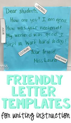 Friendly Letter Templates for Writing Instruction Writing A Persuasive Essay, Writing Prompts, Writing Ideas, College Application Essay, College Essay, Dear Students, College Students, Second Grade Writing, Creative Writing Classes