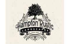 Hampton Rustic logo by Dan Gretta