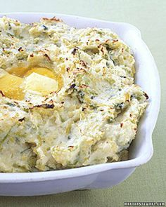 Colcannon - This traditional Irish potato dish can be assembled up to two hours ahead and browned just before serving.