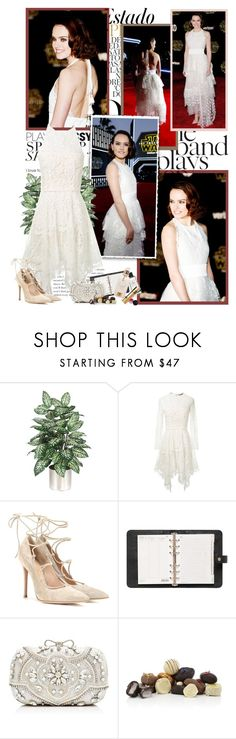 """""""Daisy Ridley"""" by productionkid ❤ liked on Polyvore featuring Munro American, Lover, Gianvito Rossi, Mulberry, Forever New, Harrods, RedCarpet and daisyridley"""