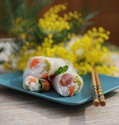 Rouleaux de printemps au poisson cru - Recettes de cuisine Ôdélices