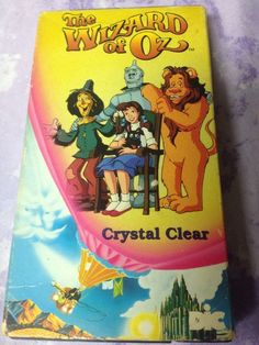The Wizard Of Oz Animated Crystal Clear Rare HTF VHS OOP