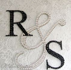 Crystallized Initial Cake Topper by MilanCreations on Etsy, $100.00