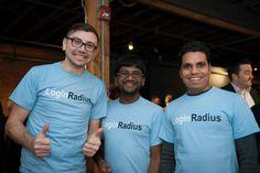 Startup of the Week – LoginRadius Left to Right: Christopher Fletcher, Business Development Manager, and Cofounders, Deepak Gupta and Rakesh Soni.