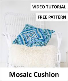 Free Crochet Patterns – It's all in a Nutshell Crochet Home, Free Crochet, Crochet Projects, Craft Projects, Crochet Videos, Free Pattern, Mosaic, Crochet Patterns, Cushions