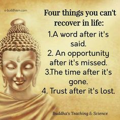 #four things you can't recover in life..