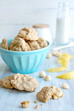 The Kitchen McCabe: {Just Slightly} Healthier White Chocolate Chip Macadamia Lemon Cookies
