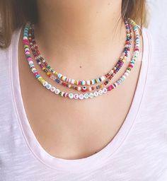 Pulseras Kandi, Pua, Diy Necklace, Jewelry Trends, Handmade Necklaces, Jewelry Bracelets, Fashion Jewelry, Chokers, Jewels