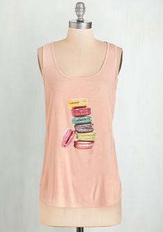 Stack Where I Belong Top. After arranging ingredients on the counter, you smooth out this sweet peachy-pink tee, adjust your apron, and start baking your favorite treat! #pink #modcloth