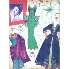 Cyd Charisse Uncut Reproduction Paper Dolls 1956 | 5 of 9