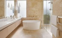 Modern Travertine Bathroom Tiles