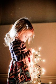 girl, Christmas lights Tumblr